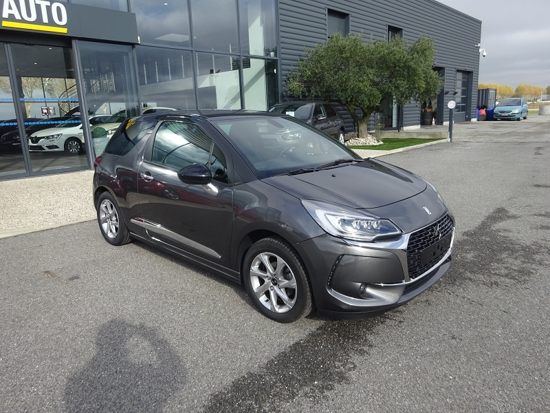 Ds DS 3 PURETECH 110CH SO CHIC AUTOMATIQUE Essence GRIS PLATINIUM/NR Occasion à vendre